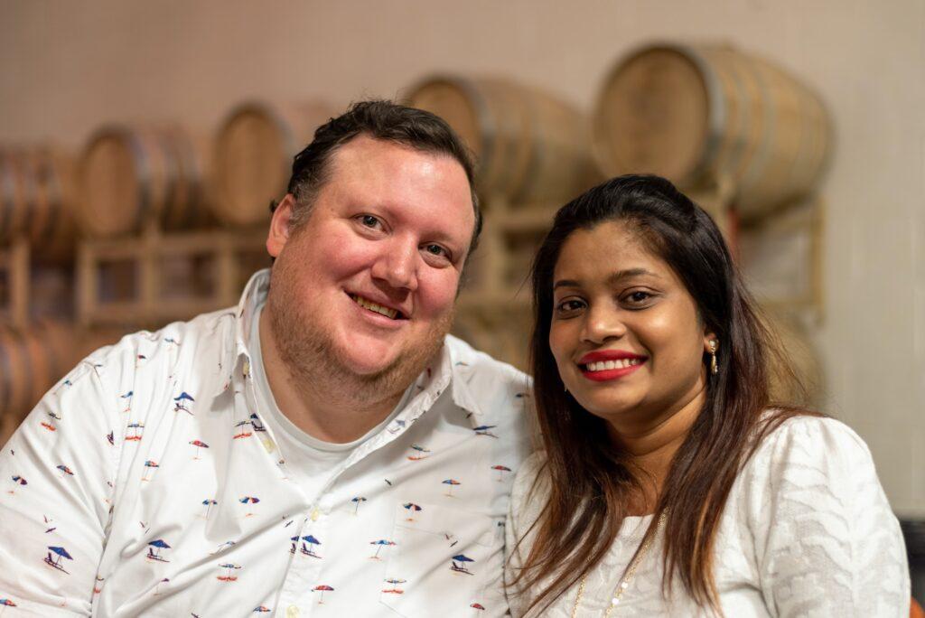 Happy young interracial couple